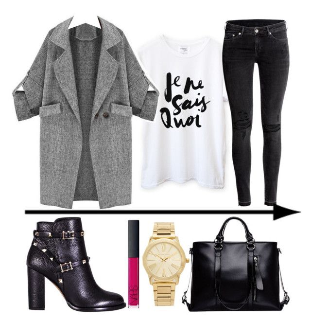 """Unbenannt #34"" by wantyousobad on Polyvore featuring Mode, H&M, Valentino, NARS Cosmetics und Michael Kors"
