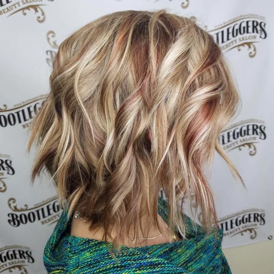 Ice Blonde Hair With True Red Lowlights Joicosalon Joicocolor Bootleggersbeautysalon Ice Blonde Hair Red Hair With Blonde Highlights Fall Blonde Hair Color
