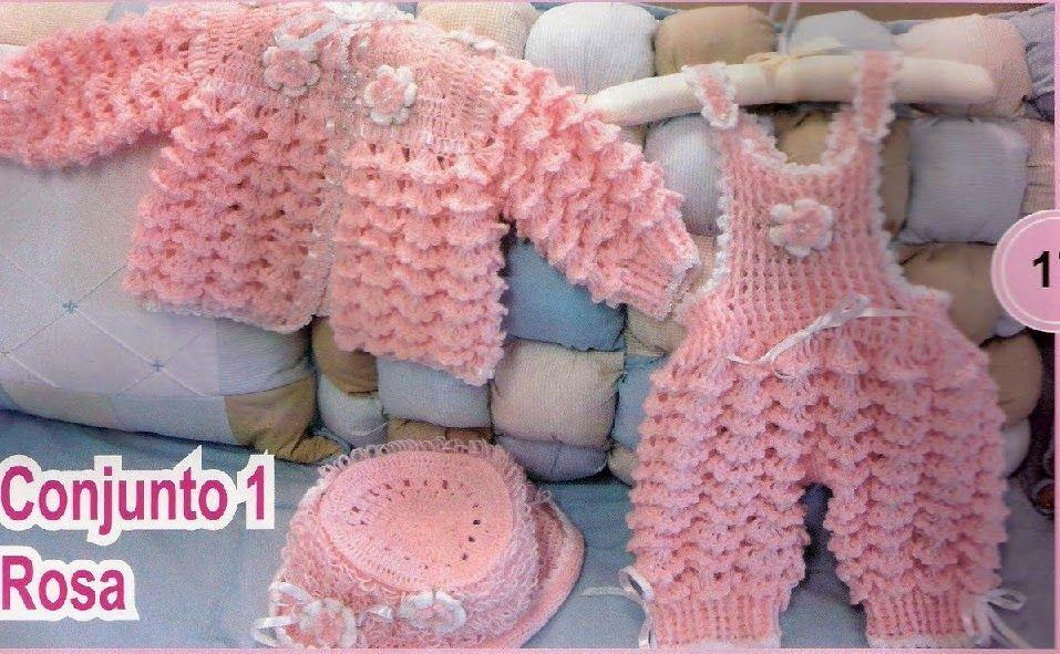 Conjunto de croche para bebe