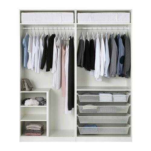 PAX Kleiderschrank, weiß, Bergsbo weiß Kleiderschränke - großer kleiderschrank schlafzimmer
