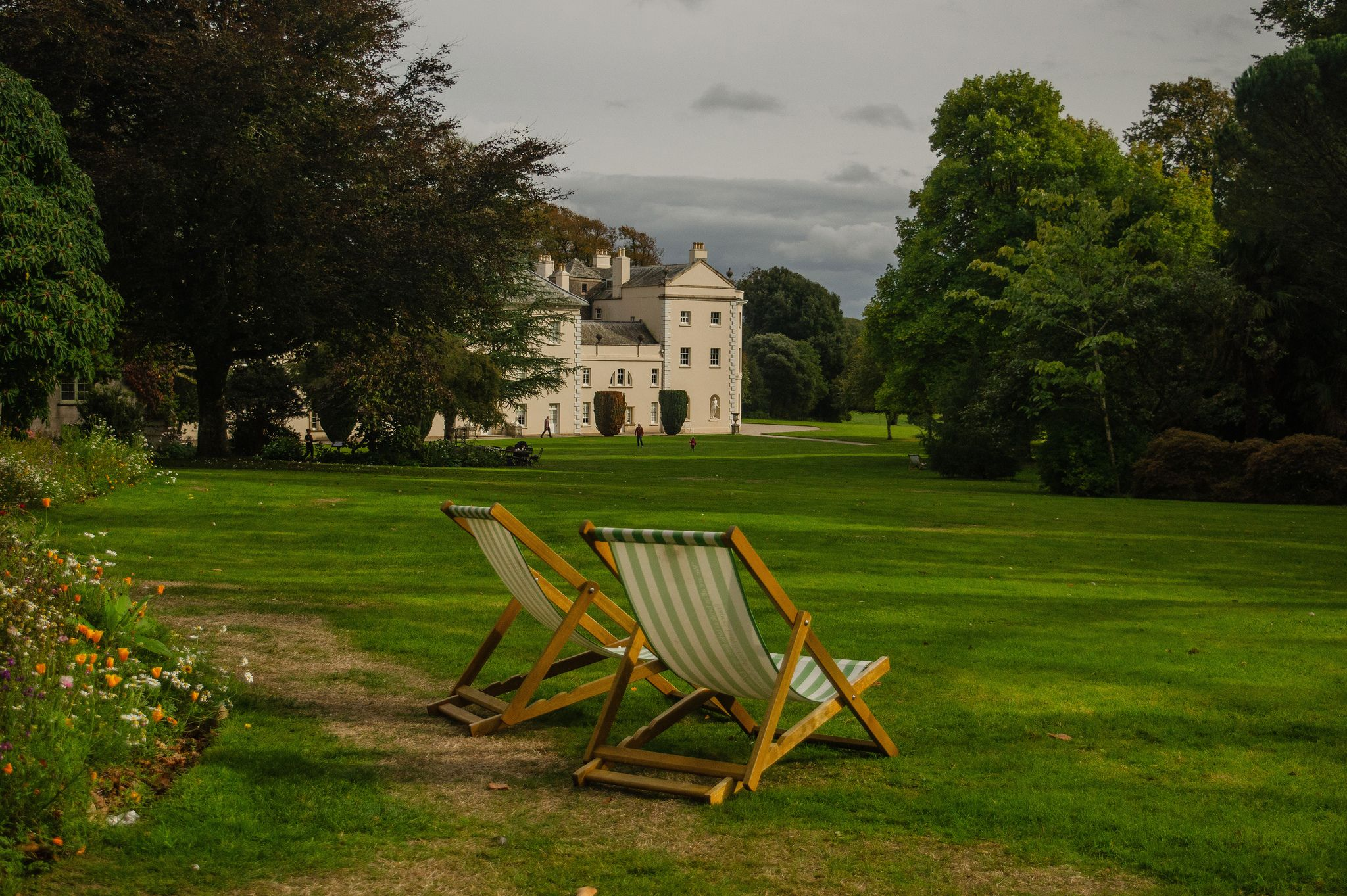 As Autumn Comes To Sit A While 18th Century Landscape Mansions Outdoor Chairs