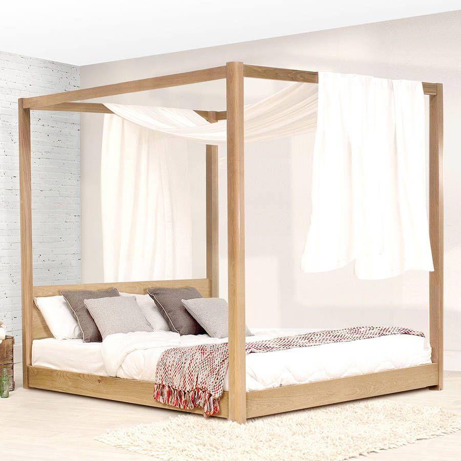 Low Wooden Four Poster Bed Frame | Bedrooms | Pinterest | Bed frames ...