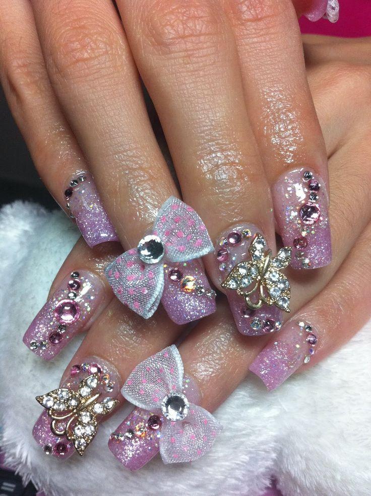 Cute Acrylic Nail Designs. Cute? I don\'t think so!   Hair/beauty ...
