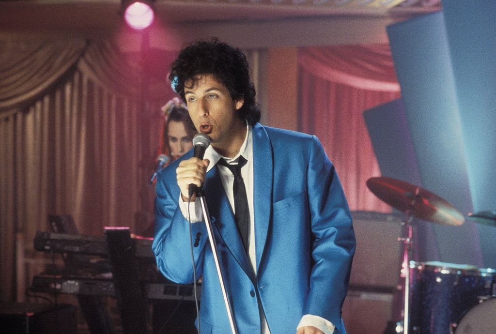 Post Breakup Wedding Singer Robbie Adam Sandler Takes The Mic And Releases All His Sorrows In A Rough Song Called Love Stinks