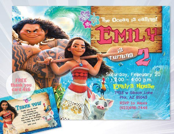 graphic about Printable Moana Invitations called Moana Invitation, heihei invitation, Moana Occasion, Moana