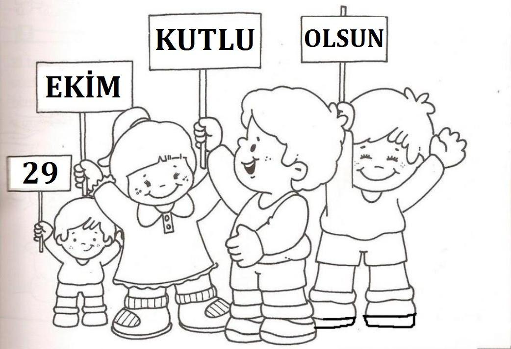 29 Ekim Boyama Sayfaları Ataturk Kindergarten Art Art Ve