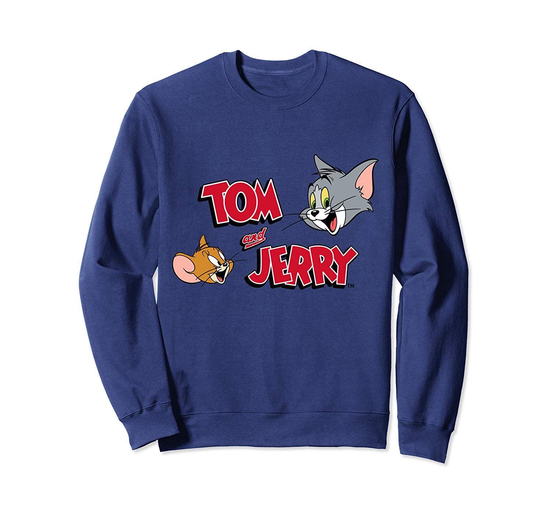 Tom And Jerry Graphic Logo Crewneck Sweatshirts Sweatshirts Crew Neck Sweatshirt Clothes [ 1402 x 1500 Pixel ]