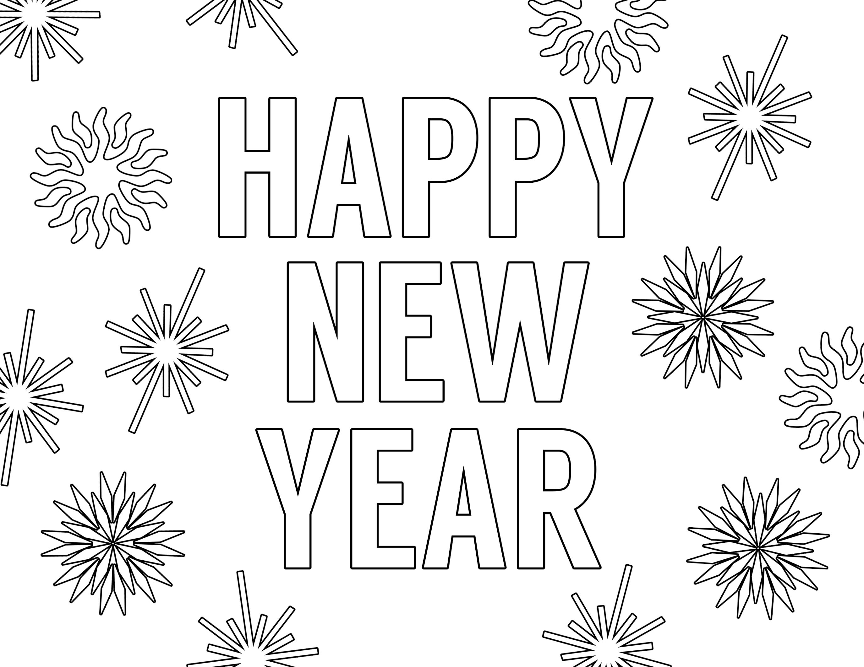 28 Free Printable Happy New Year Coloring Pages ideas  new year