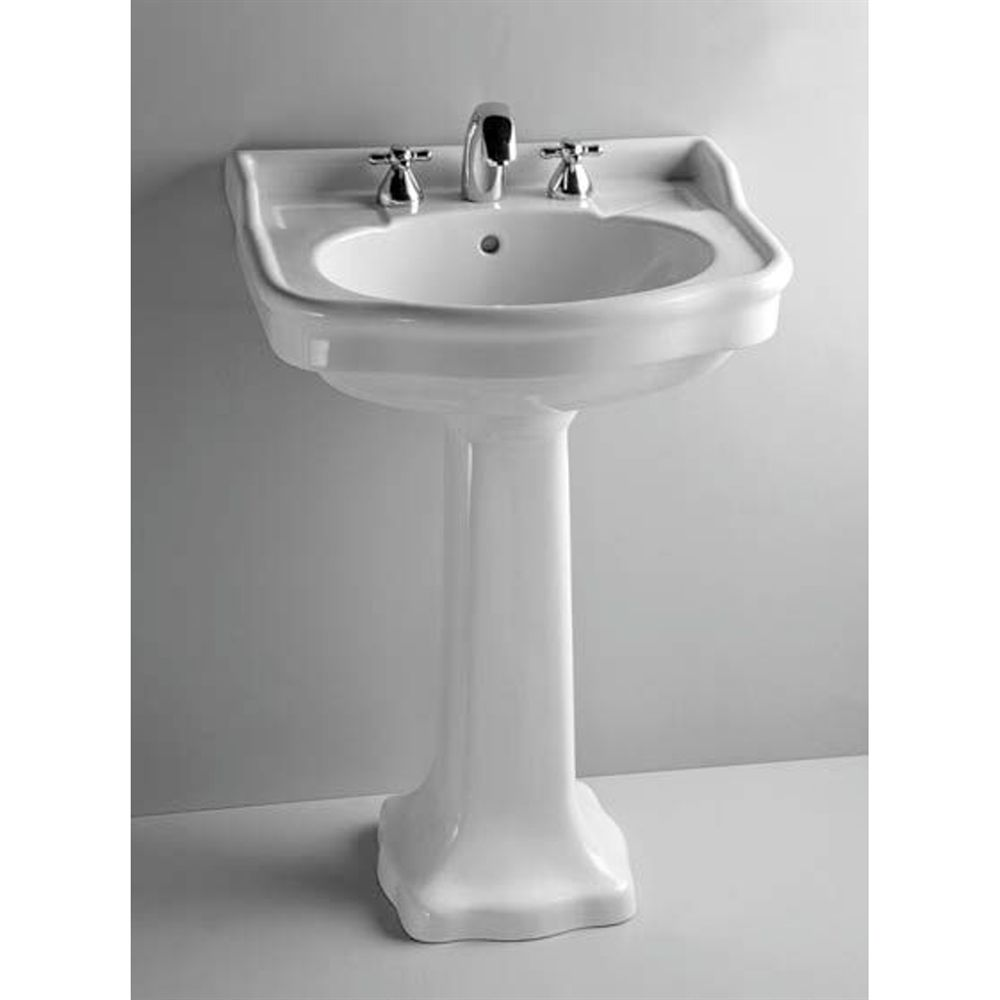 Shop Ceramics By JAG 6155 4 Aria Pedestal Sink And Leg In Ceramic Pre