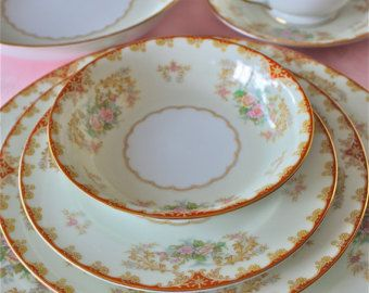 Old Ivory china sets-Rose Marie by marionsvintagebakery on Etsy & Old Ivory china sets-Rose Marie by marionsvintagebakery on Etsy ...