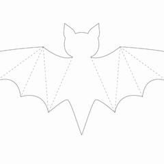 Bastelvorlage Fledermaus Fledermaus Vorlage Halloween Deko Basteln Mit Kindern Herbstdeko Basteln Vorlagen