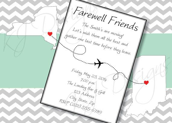 Farewell Invitation Digital world map custom map by kjdesignsshop - invitation templates for farewell party