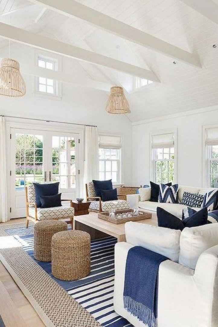 95 Good and Eye-catching Coastal Living Room Decor Ideas ...