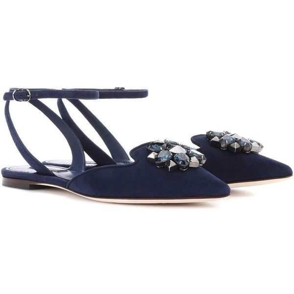 Dolce & Gabbana Bellucci embellished suede ballerinas fake cheap online discount enjoy cheap outlet store outlet Inexpensive 2014 new cheap price ZetLdqtx6V