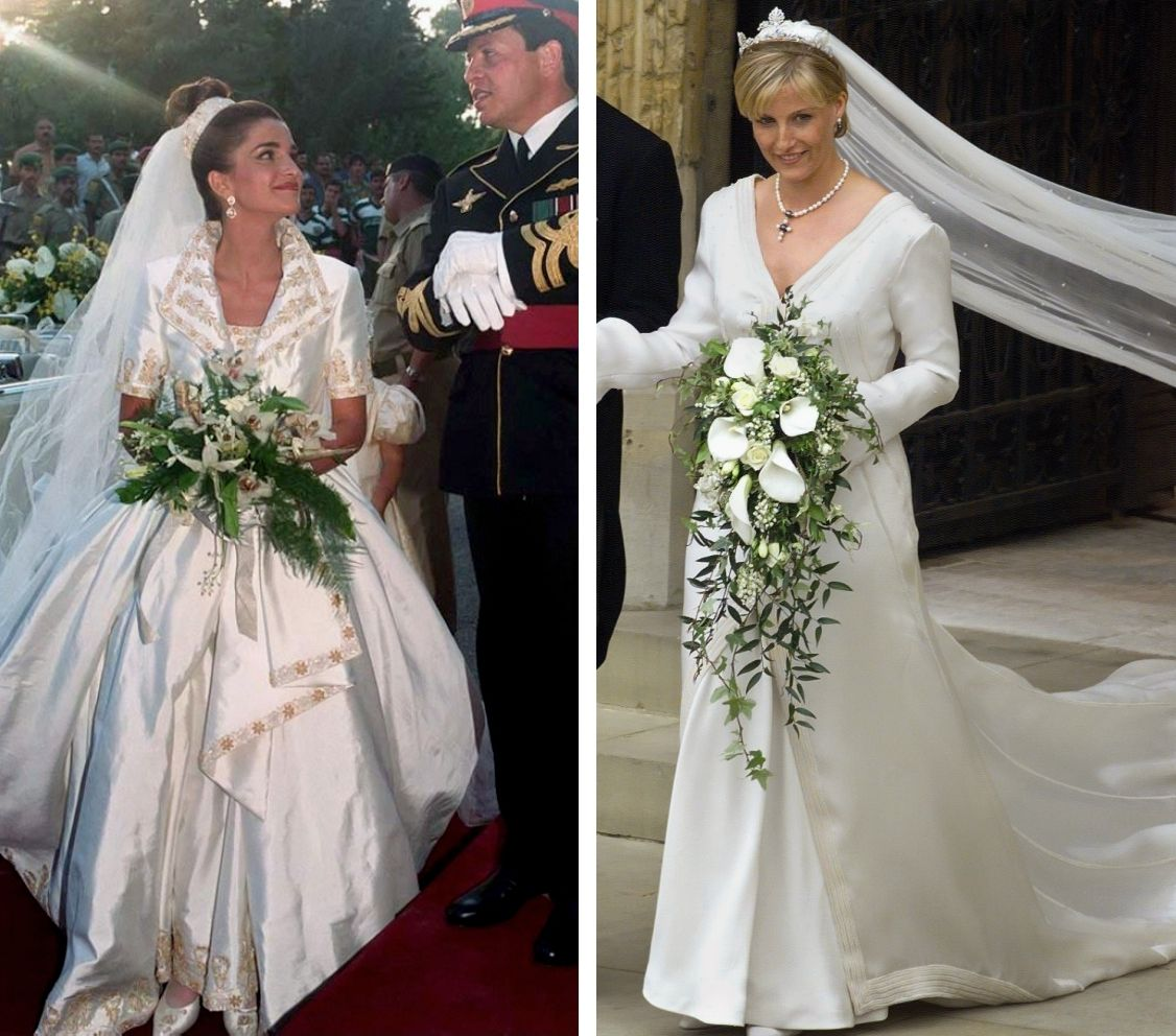 Royal Wedding Gowns And Bouquets Royal Roaster Royal Wedding Gowns Wedding Gowns Royal Brides [ 992 x 1126 Pixel ]