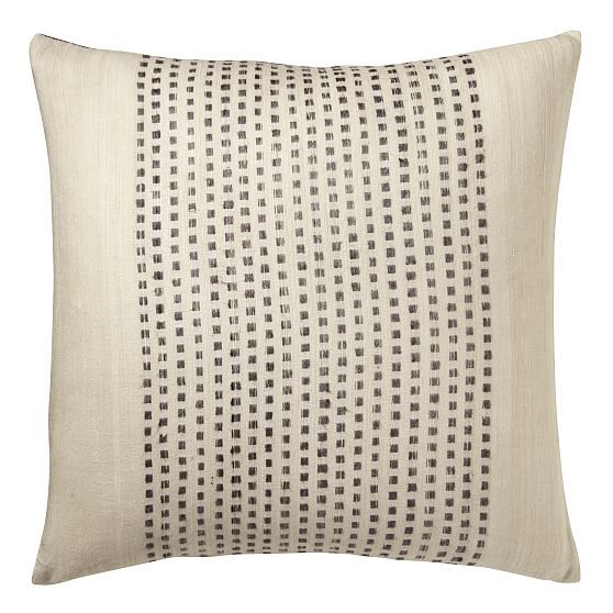 Eco Tasar Dot Pillow Cover, Slate