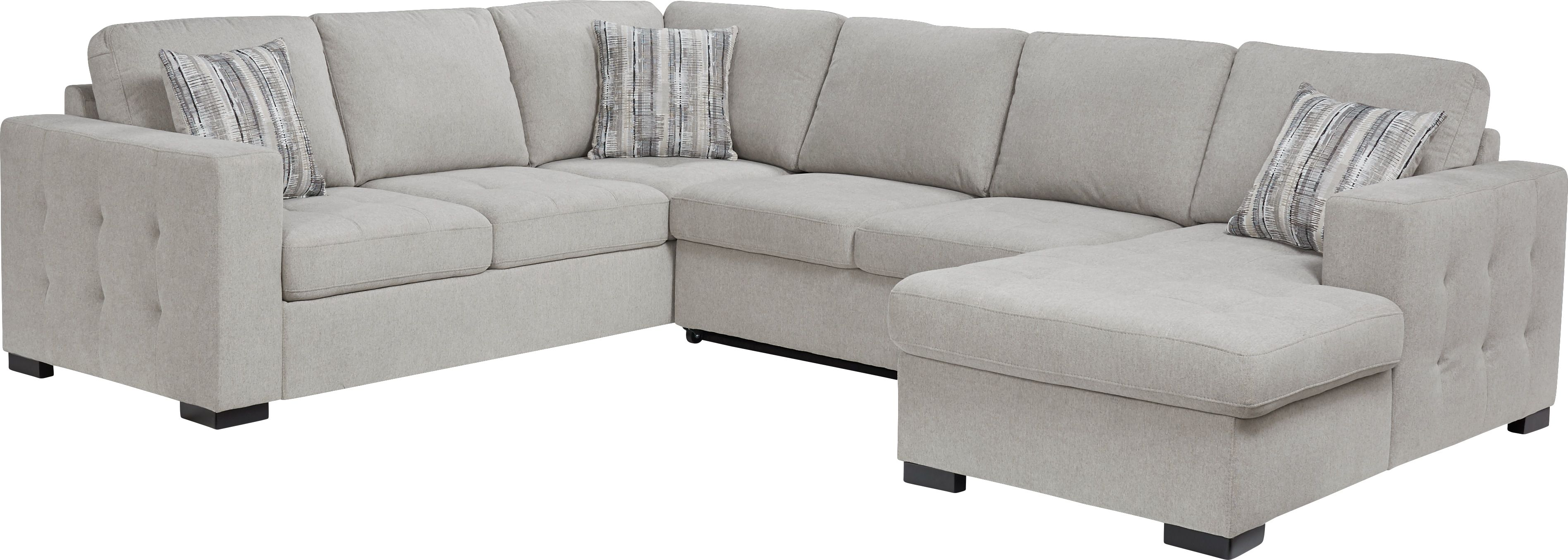 Angelino Heights Gray 3 Pc Sleeper Sectional In 2019