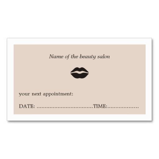 Simple Elegant Clean Beauty Salon Appointment Card Zazzle