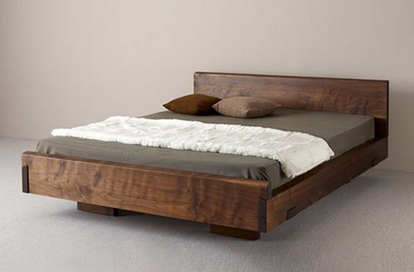 Natural wood beds by ign design rustic knotty wood Simple wooden bed designs