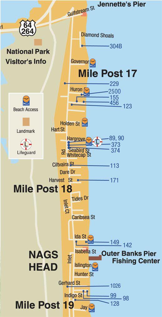 Map Of South Nags Head Carolina Beach