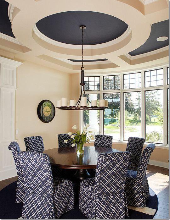 23 Dining Room Ceiling Designs Decorating Ideas: Coffered Ceiling Dining Room, Dining Room Ceiling, Dining Room Design