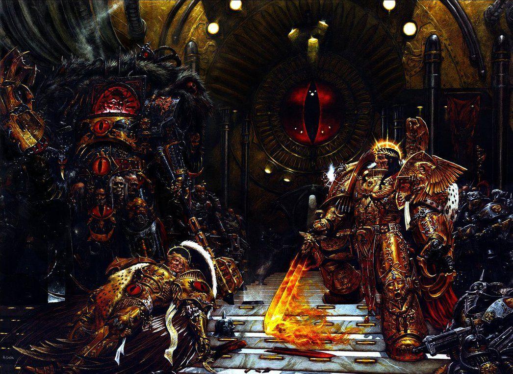 Warhammer 40K Emperor Throne Scene Touched Up by RAVENORE