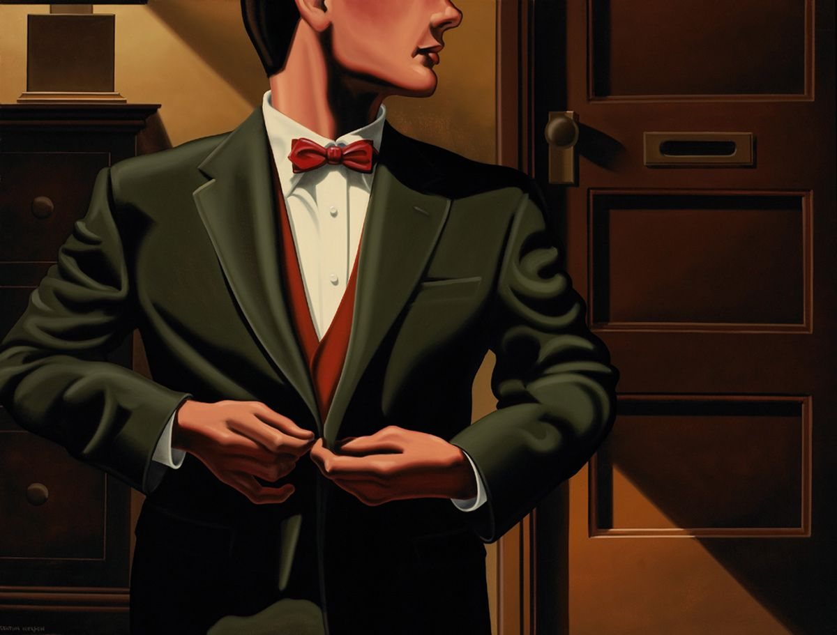 Kenton Nelson / Figurative / A Suit of a Becoming Shade of Green
