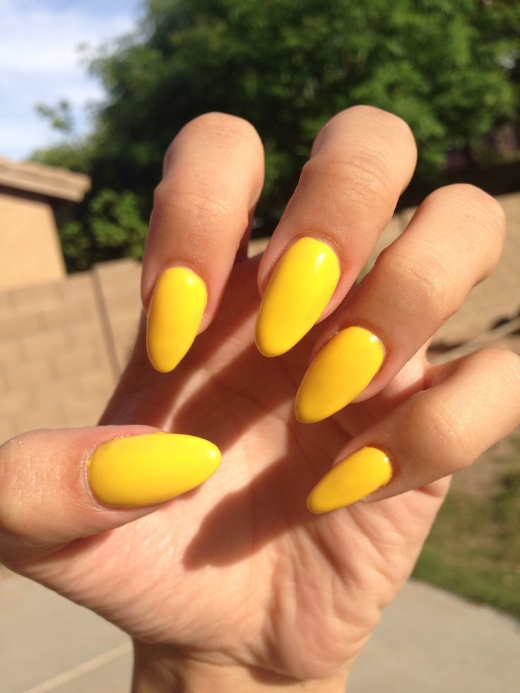 Yellow Acrylic Nails Elevenloser