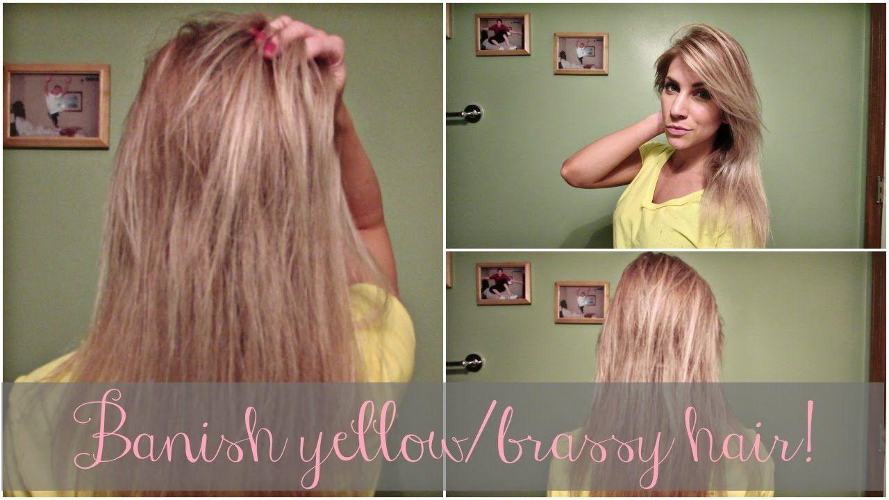 How to get rid of yellowbrassy hair brassy hair hair