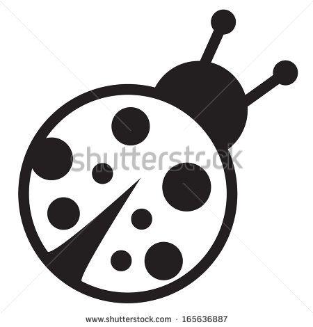 Cute Ladybug Clipart Black And White Cute Icon Of Isolated Clipart Black And White Lady Bug Tattoo Clip Art
