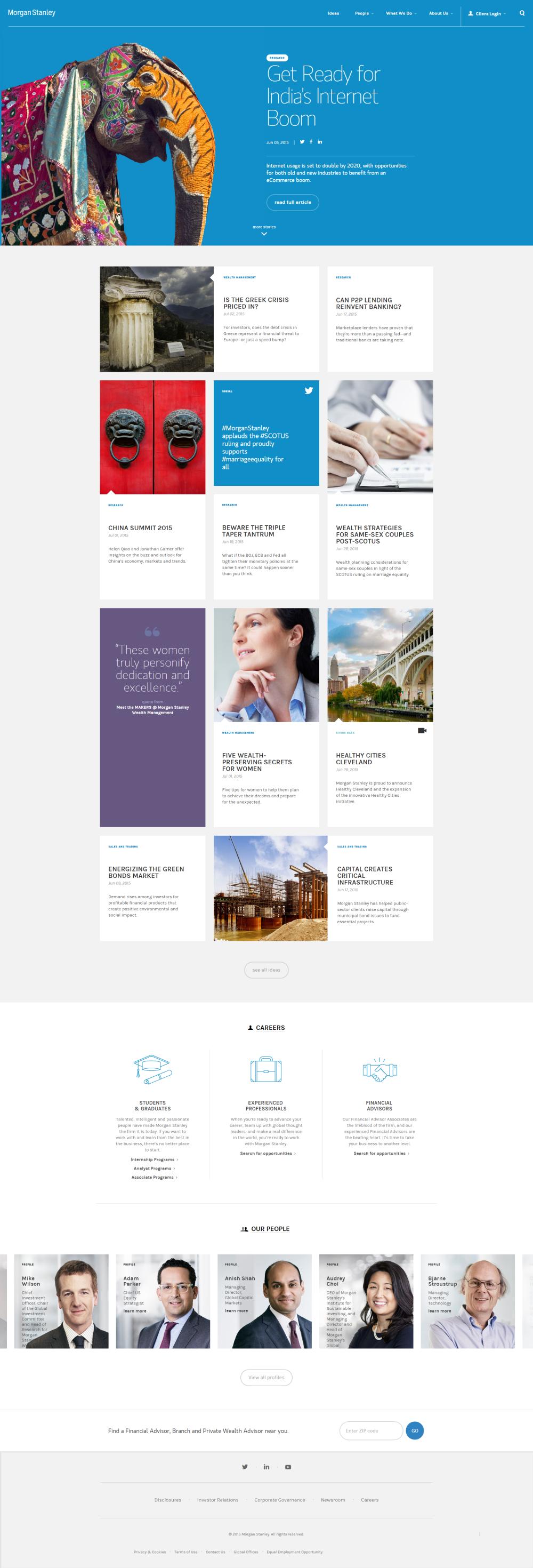 Morgan Stanley Site Design Inspiration Web Design