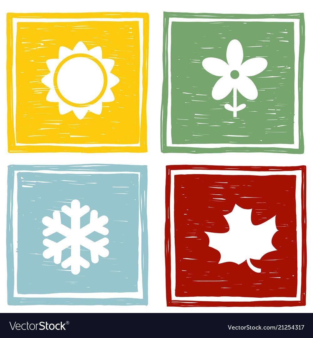 Символы времен года в картинках