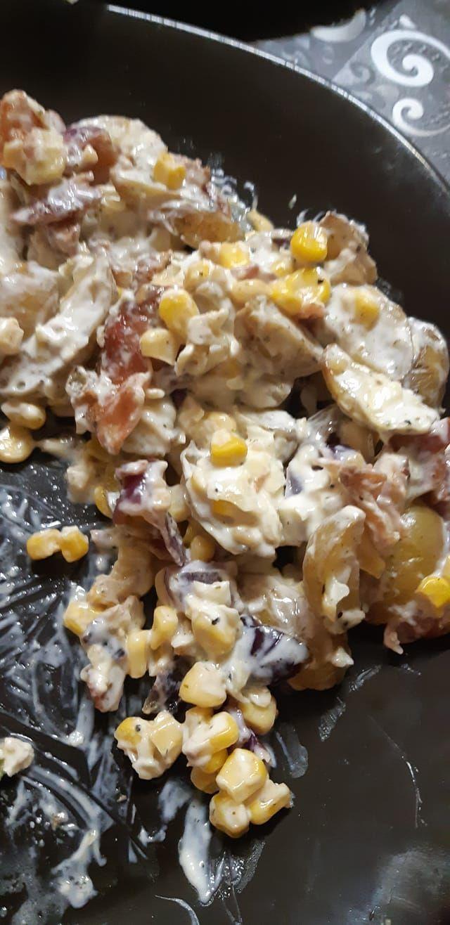 Earls Warm Potato Salad With Roast Corn and Bacon Recipe -  - Food -