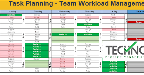 Excel Team Calendar Template Download: Plan Monthly ...