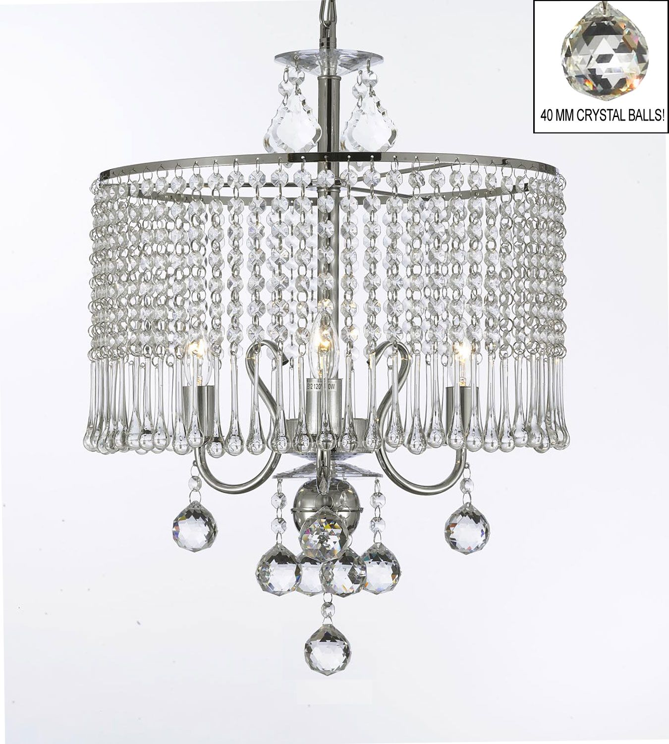 G7 B6 1000 3 Gallery Chandeliers Contemporary 3 light Crystal