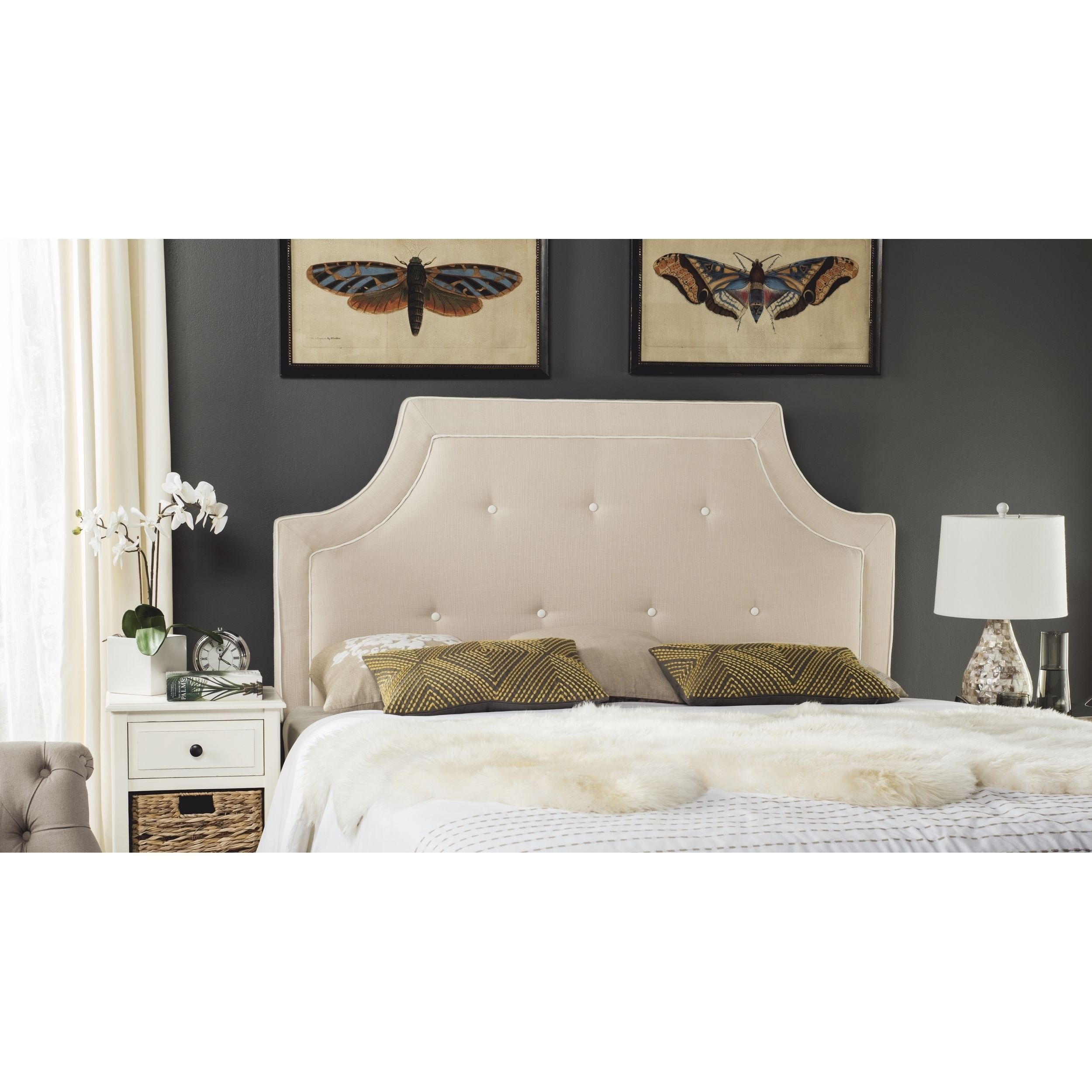 sale tufted double white cherry queen headboards wood king size beds full bed fabric discount only studded cheap for headboard beautiful black
