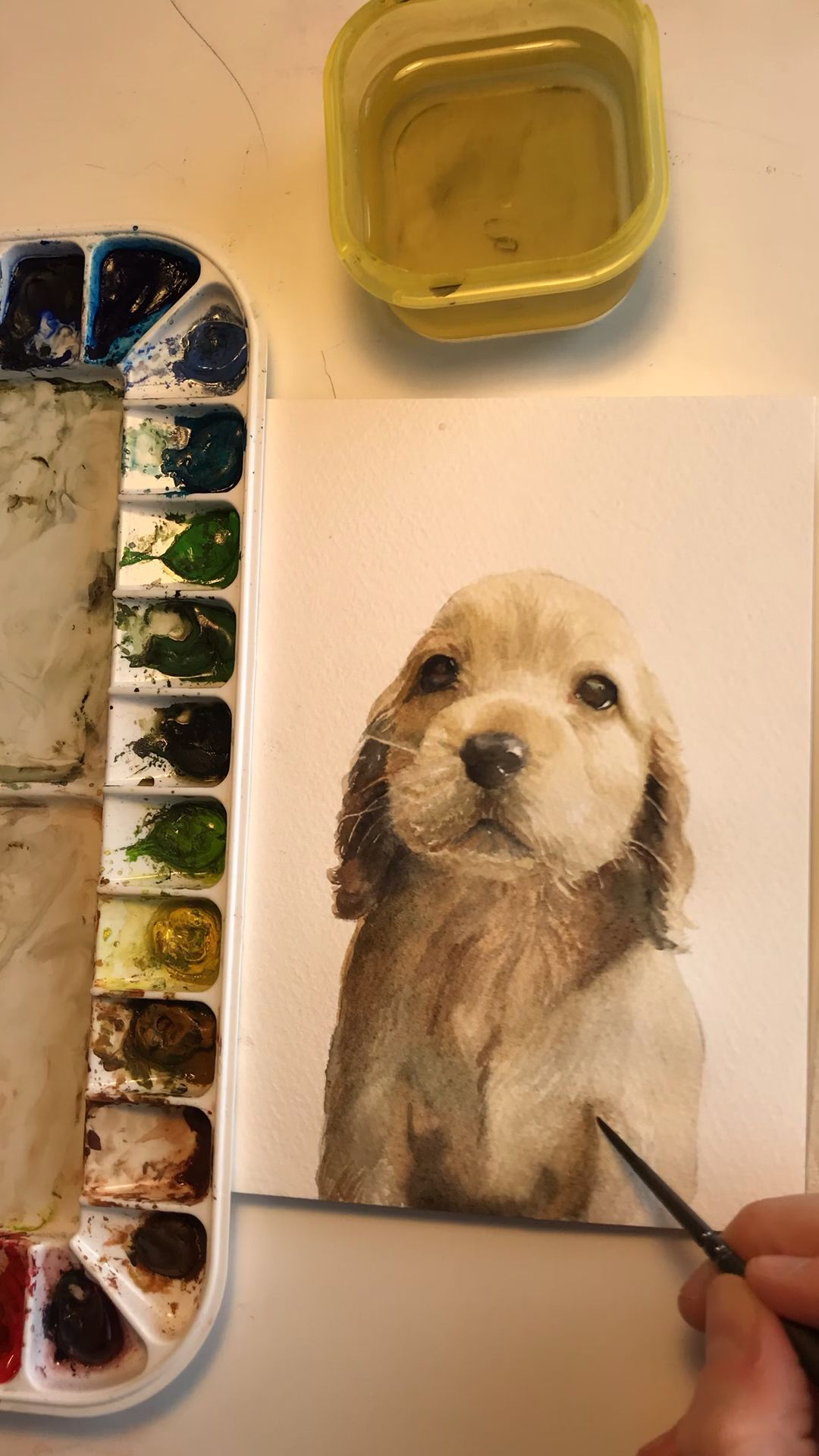 Make your walls extra adorable with unique fine art puppy prints from Watercolor Luv for kids room or nursery.