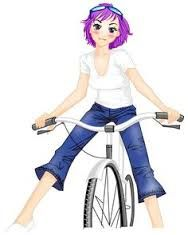 Image Result For Cartoon Girl On Bicycle Little Girl Cartoon