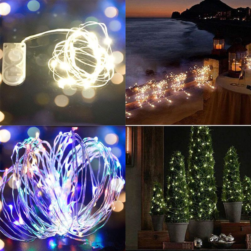 2 99 10 20 30leds Battery Operated Xmas Mini Led Copper Wire