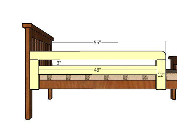 Side Rails | Books Worth Reading | Pinterest | Bed plans, 2x4 lumber ...