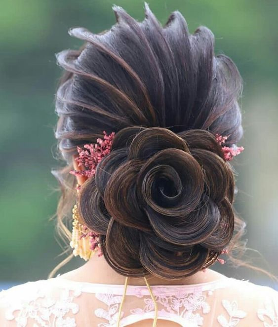 Super Trendy Beautiful Hairstyles Indian Fashion Ideas Indian Fashion Ideas In 2020 Bridal Hair Buns Bridal Hair Decorations Beautiful Hair