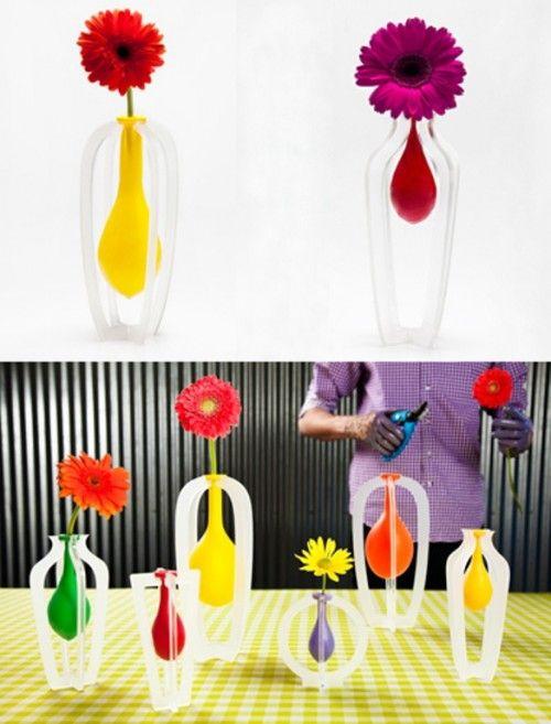 Diy Latex Baloon Vases Make A Vase Of A Usual Latex Balloon How