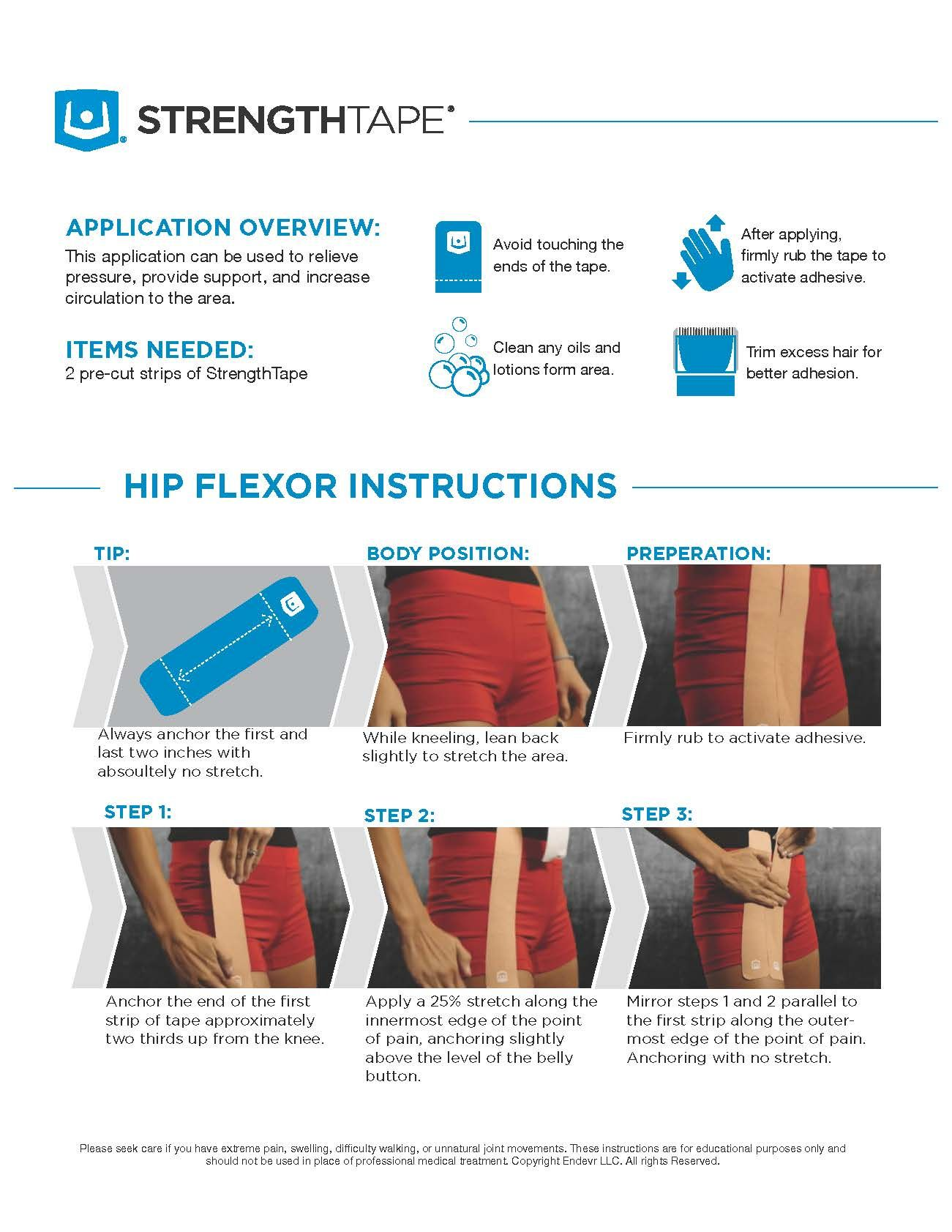 Knee pain diagnosis chart - Hip Flexor Instructions Hipflexorinstructions Kinesiologytapeapplication