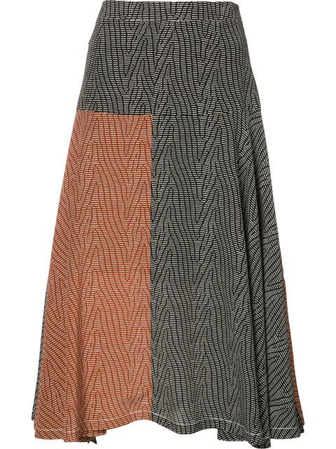 74ba15032 Broken-Dash A-Line Midi Skirt, Multi