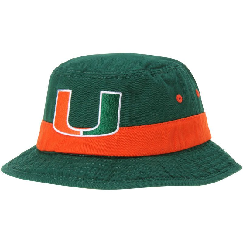 official photos 446f8 0fa48 Miami Hurricanes adidas Fan Bucket Hat - Green