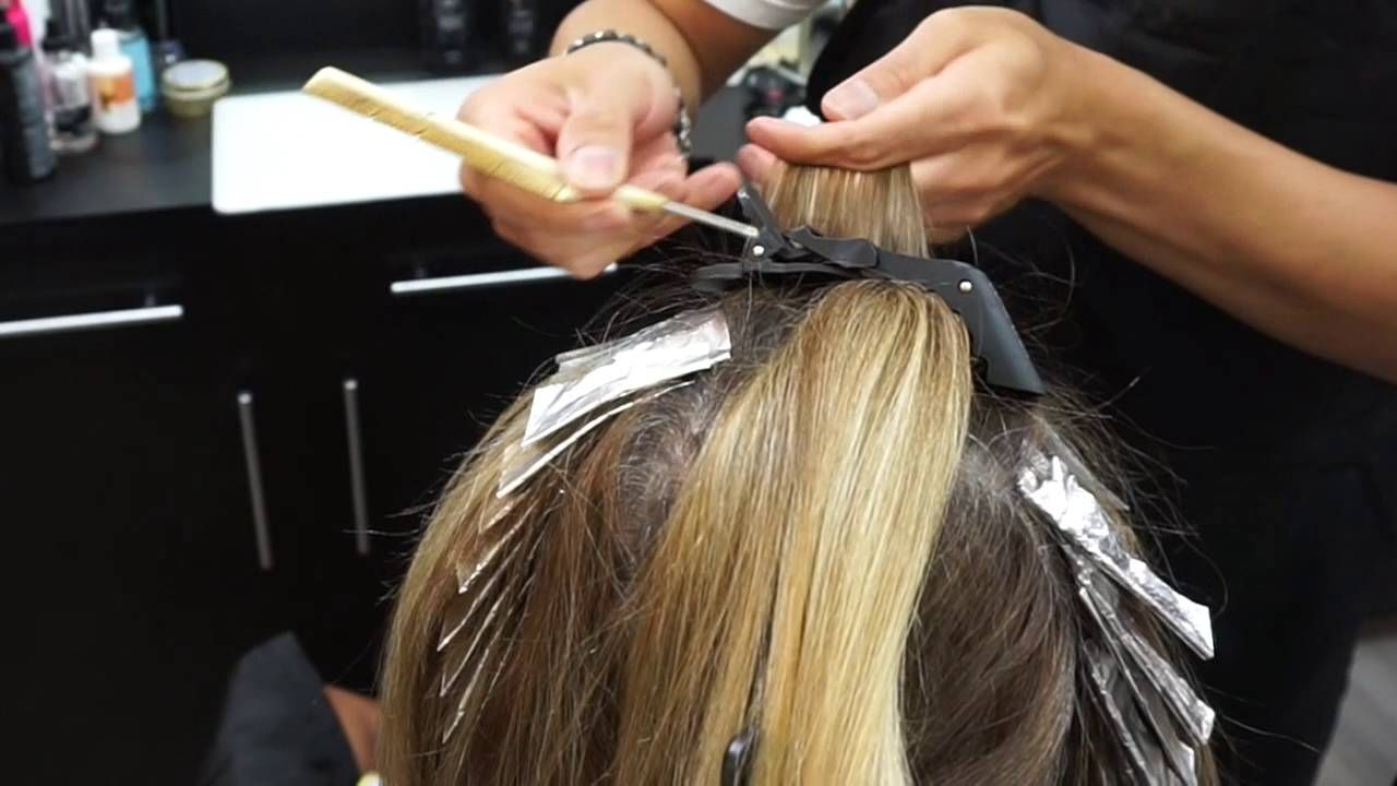 How To Do A Color Touch Up With Highlights At The Same Time Youtube Colored Highlights Hair Highlights Men Hair Color