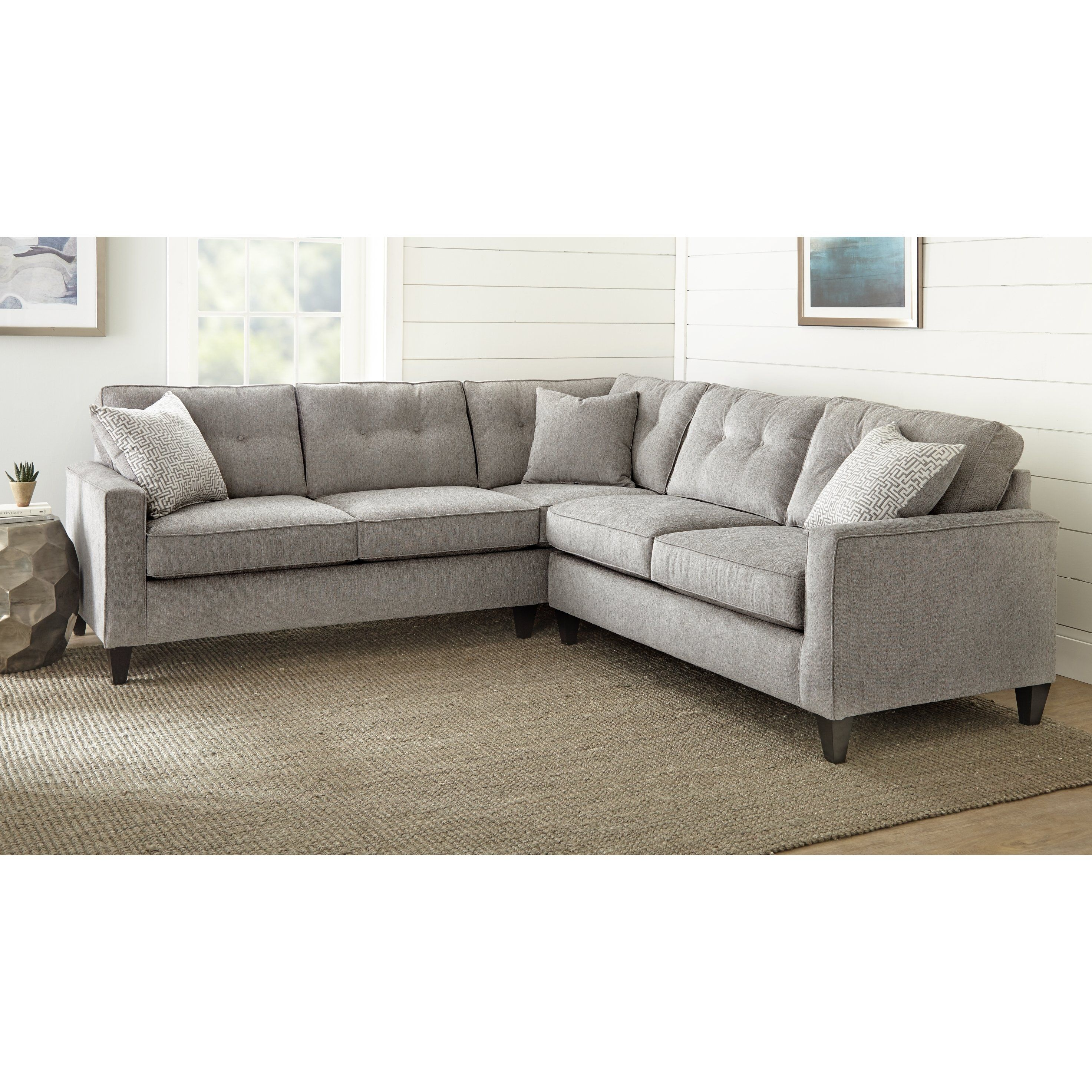 Murphy Sectional By Greyson Living Grey Foam Sectional