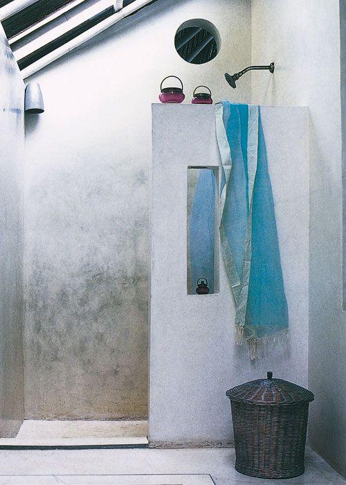 Casa y campo construir una ducha de obra nuestra casa - Como hacer una mampara ...