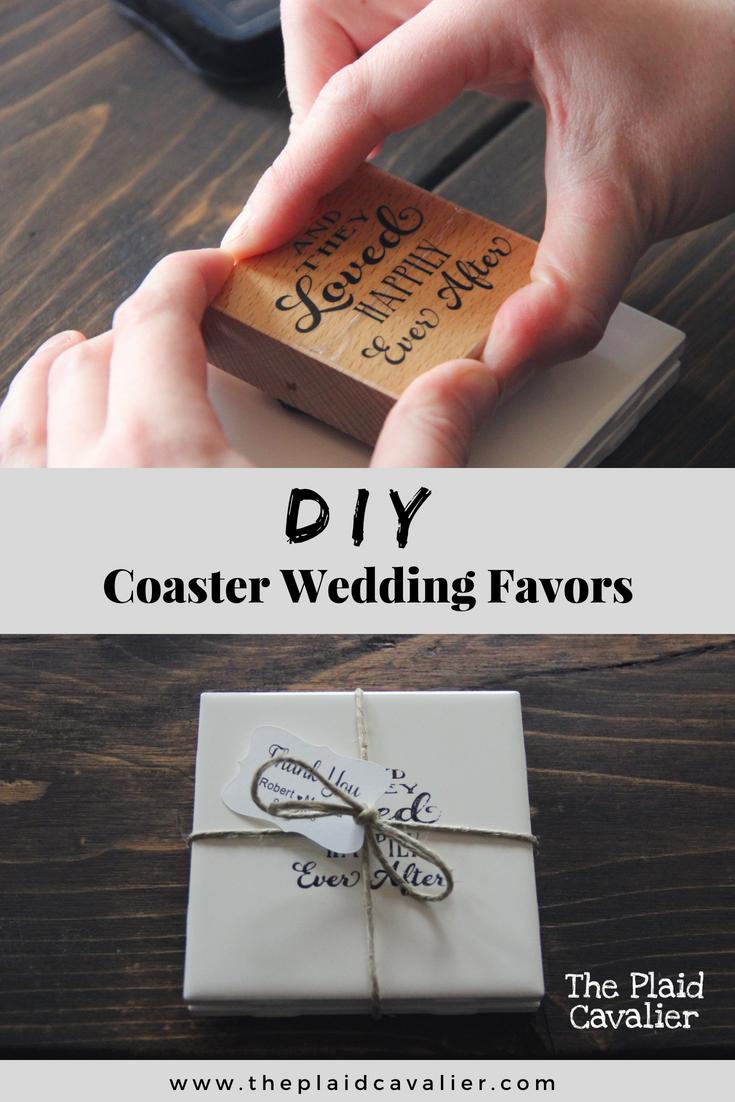 diy coaster wedding favors the plaid