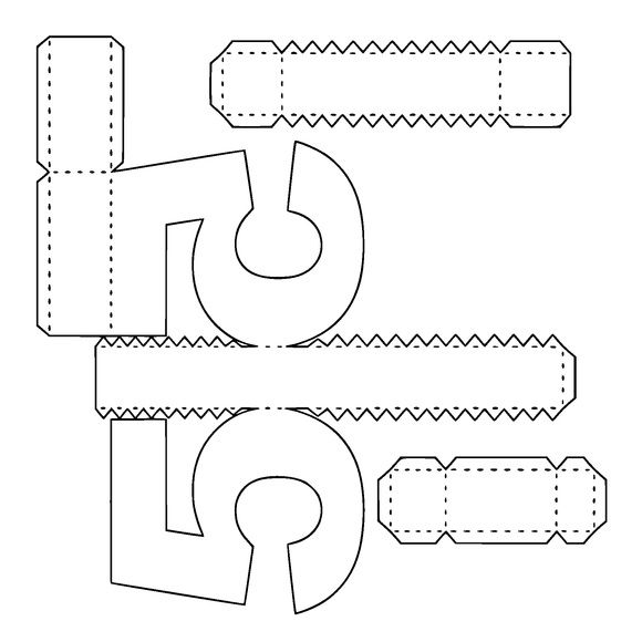 Plantilla Para Letras Y Numeros 3d Bricolaje Y Manualidades